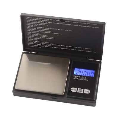 Portable Electronic Mini Digital Gold Pocket Jewellery Weighing Scale 200g TE822