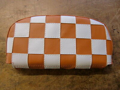 Orange/White Check Back Rest Cover (Purse Style)