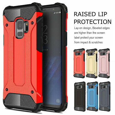 For Samsung Galaxy S9 S8 S7 Heavy Duty Slim Rubber Silicone Hard Shockproof Case