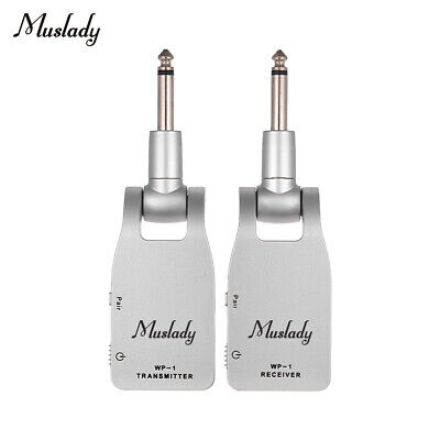 Muslady 2.4G Wireless Guitar System Transmitter & Receiver For Guitar Bass F4Q6