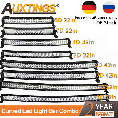 Curved LED LIGHT BAR WORK LAMP 4WD BOAT OFFROAD ATV 4X4 20'' 32'' 42'' 52''inch