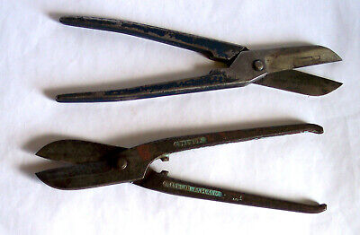 Tin snips x2 – Gilbow G245 & Fedco 10 in - Vintage Sheffield - good - notes/pics
