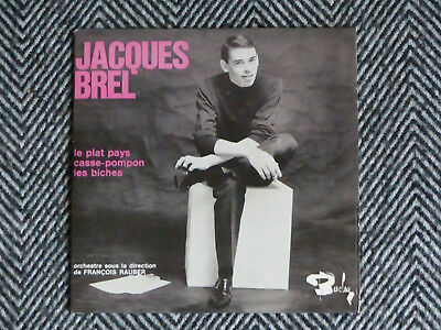 JACQUES BREL - Le plat pays / Casse-pompon / Les biches - CD single