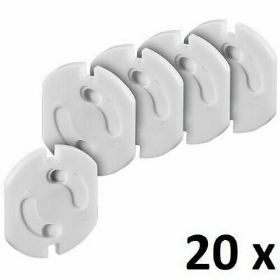 Spring Cover 2 - Phase 2 - Pin 2 - Hole Anti - Shock Power Socket Cover 20 PCS