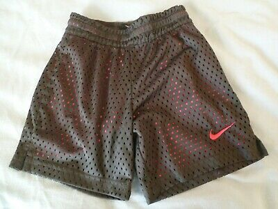 Nike Girls Youth XS DRI-FIT MESH SHORTS Charcoal Gray Pink Lined Athletic Sports