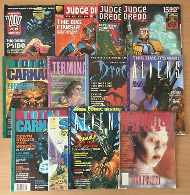 Slaughter House Aliens 2000AD Judge Dredd Dark Horse 1990s Comic Magazine Bundle