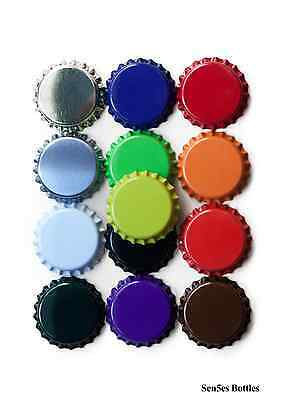 900 x crown caps, 16 different colours to choose from glass bottle caps, Crowns