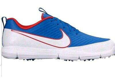 size 40 126d4 f8c94 Nike Explorer 2 Mens 13M Spikeless Golf Shoes Red White Blue 849957-401(0