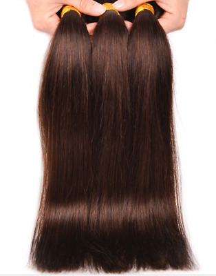 Chatain marron fonce Tissage 100% Cheveux Humains Naturels Virgin Remy hair n°2