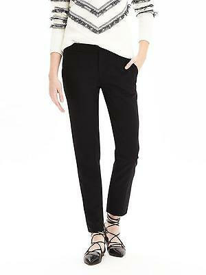 NWT Banana Republic Avery-Fit Black Lightweight Wool Crop Pant, size 2S