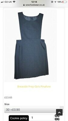 GIRLS GREY Pleated SCHOOL PINAFORE DRESS 30 Approx 8-10 Years £25 New
