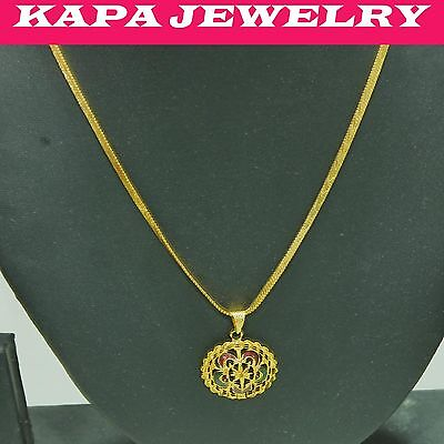 Costume Jewellery 22k Real Looking Gold Black Beads Necklace Chain Kapa Jewelry Necklaces & Pendants