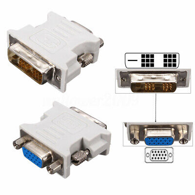 DVI-D (18+1Pin ) Dual Link Male to VGA 15 Pin Female Plug Adapter for PC  !!!