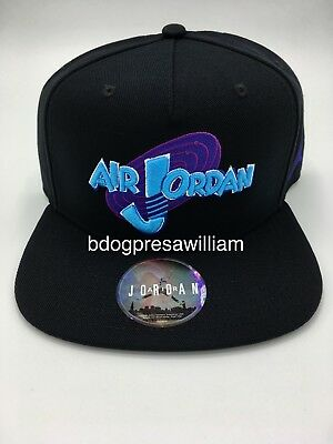 c1133d1901c5 AIR JORDAN RETRO 11 Space Jam Snapback Hat Black concord Blue 836413 ...