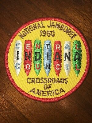 1960 NSJ CROSSROADS OF AMERICA Central Indiana Council PATCH NATIONAL JAMBOREE