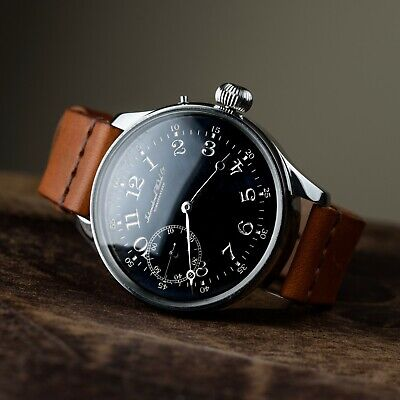Mens exclusive watch IWC marriage antiques wristwatch swiss movement leather