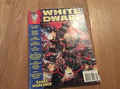 WHITE DWARF MAGAZINE ISSUE NO 193 GAMES WORKSHOP warhammer January 1996