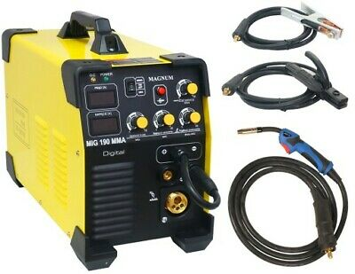 MAGNUM MIG 190 MMA DIGITAL ARC 200A TIG LIFT MAG welder inverter 5in1 Gasless