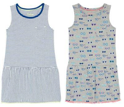 Boden Girls Dress Drop Waist Jersey Summer Dress Ex Mini Boden Age 2 - 16