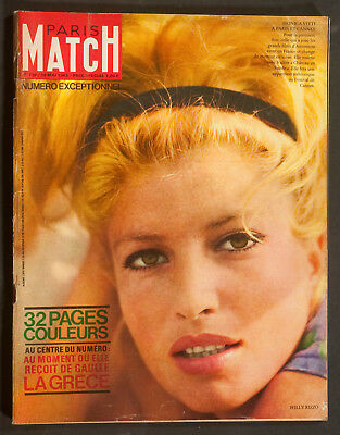 'paris-Match' French Vintage Magazine Monica Vitti Cover 18 May 1963