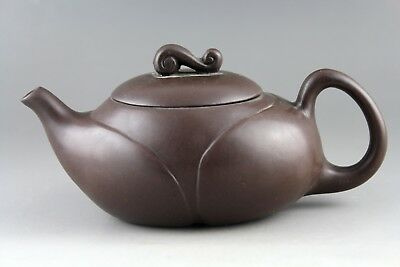 6'' Chinese handmade old porcelain purple sand teapot collect teapot