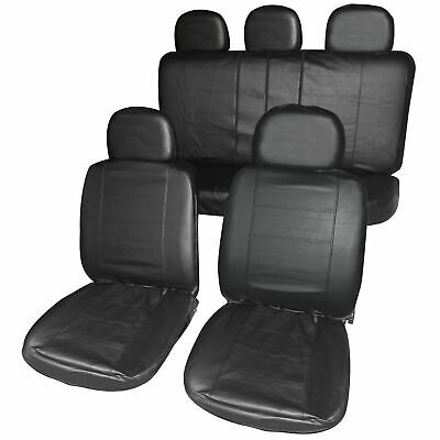 Leatherette Full Set Front & Rear Car Seat Covers for Ssangyong Rexton