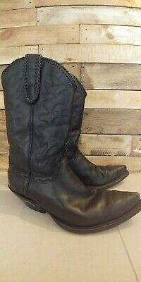 d3f2059e476 MENS WESTERN BOOTS Noel made for Sendra Size 8 black leather cowboy ...