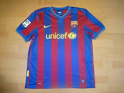 Nike 2009-2010 FC Barcelona home football jersey shirt size L Large