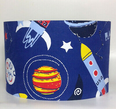 Blue Planets, Large Fabric Light Shade