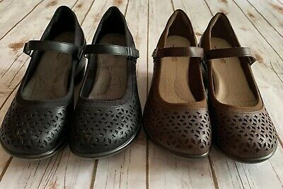 081693c03c Lot Of 2 Pairs Jbu By Jambu Alicante Mary Jane Wedge Shoes Brown Black Size  9.5