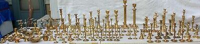 Lot 100+ Vtg Brass Candlestick Holders Candle Stick Set Pair Wedding Party Decor