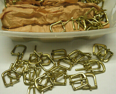 """Solid brass Buckle. 7/8""""  for ( 20 ) pieces."""