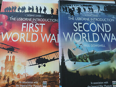 The Usborne Introduction To The First World War + The Second World War x2 Bundle