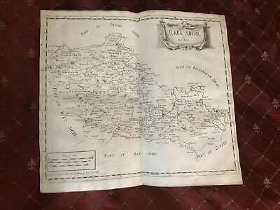 1695 COUNTY of BARKSHIRE ( Berkshire ) Original English Antique Map MORDEN