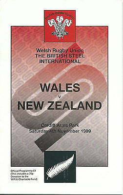 WALES RUGBY UNION v NEW ZEALAND 4 NOVEMBER 1989