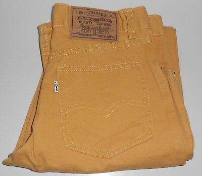 LEVI Levis BOYS Original Yellow Mustard Jeans Size Age 10 Years
