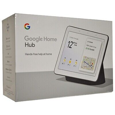GOOGLE HOME HUB with Google Assistant (GA00515-US) (CHARCOAL) *BRAND NEW IN BOX!