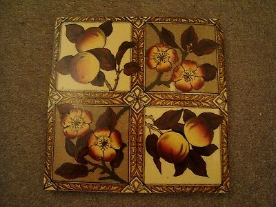 Pretty Aesthetic Floral and Fruit Quadrant Design tile 19/72