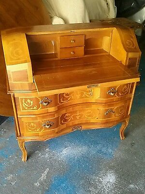 Marquetry writing  desk,   Bureau