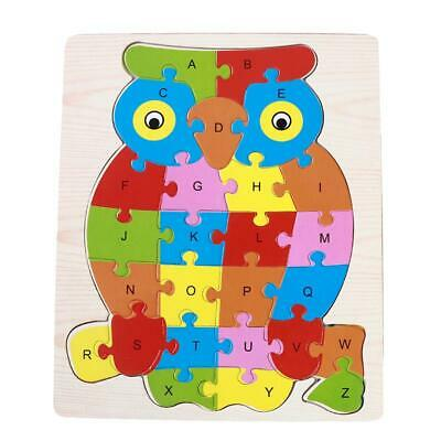 Adjustable Wooden Colorful Animals Brick Puzzle Kid Toddler Educational Toy Gx