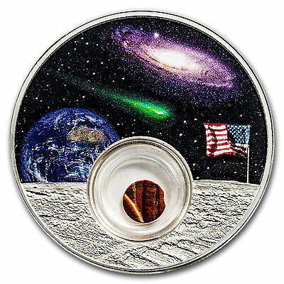 2019 Moon Landing 1 oz Silver 50th Anniversary  Statue of  Liberty Space Piece