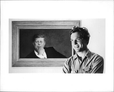 Jamie Wyeth's realistic painting of John F. Kennedy. - 8x10 photo