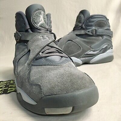 best service edcee 35bfc Air Jordan Retro 8 Cool Grey size 10.5 Gray Playoff OVO Red Sequoia Aqua  Bunny