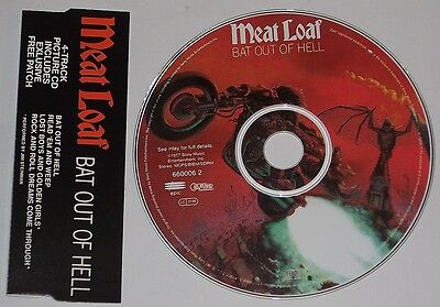 Meat Loaf Picture Cd-Maxi Bat Out Of Hell  Patch Edit.