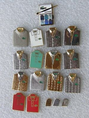 lot de 18 pin's polos LACOSTE - signé ARTHUS BERTRAND PARIS