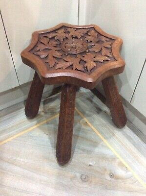 Vintage ,side / Occasional Table , Nice Carvings ,4 Legs , Solid Rosewood
