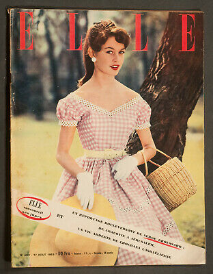 'elle' French Vintage Magazine Holiday Issue Brigitte Bardot Cover 12 August1953
