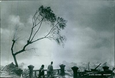 A destruction by an atomic bombed in an area in Nagasaki and Hiroshima in Japan,