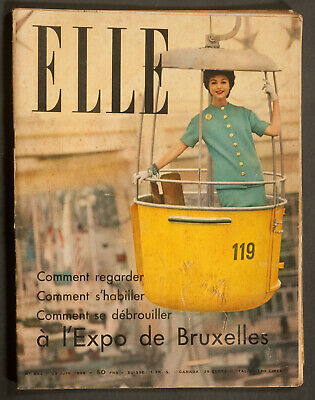'elle' French Vintage Magazine Expo Issue 23 June 1958
