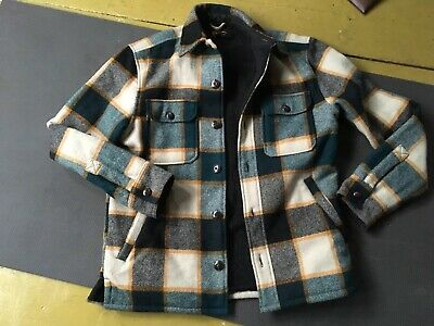 945fda1369953 Vintage Style LL Bean Signature Plaid Hunting Coat Jacket Wool Men's Small  Lined